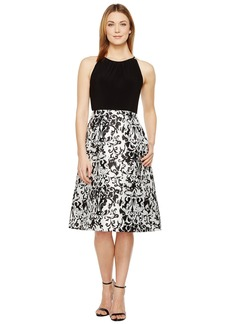 Adrianna Papell Jersey and Mikado Party Dress