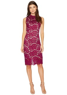 Adrianna Papell Juliet Lace Mock Neck Sheath Dress