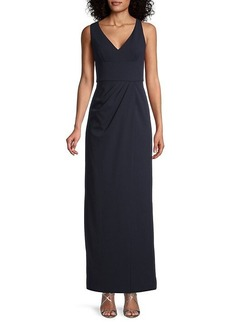 Adrianna Papell Knit A-Line Maxi Dress