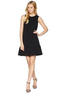 Adrianna Papell Knit Crepe Drop Waist Shift Dress