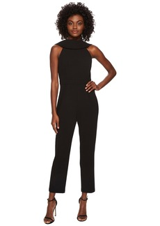 Adrianna Papell Knit Crepe Roll Neck Jumpsuit