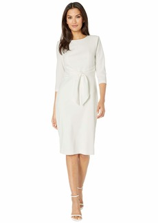 Adrianna Papell Knit Crepe Tie Waist Sheath Dress