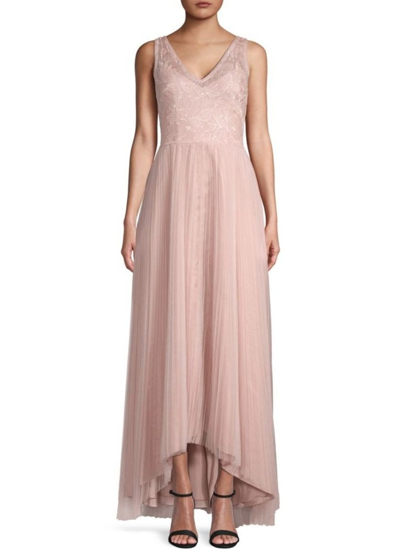Adrianna Papell Lace Sleeveless Gown
