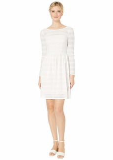 Adrianna Papell Long Sleeve Lace Fit & Flare Dress