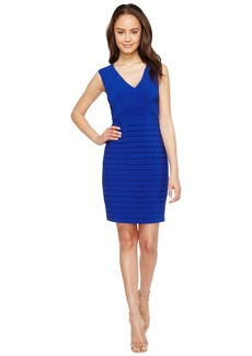Adrianna Papell Matte Jersey Banded Sheath Dress