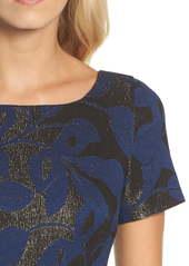 Adrianna Papell Metallic Jacquard Sheath Dress