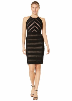 Adrianna Papell Mitered Banded Jersey Dress