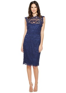 Adrianna Papell Nouveau Scroll Lace Cocktail Dress
