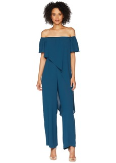 Adrianna Papell Off the Shoulder Draped Jumpsuit