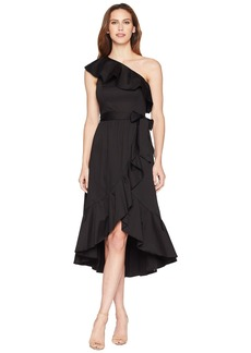 Adrianna Papell One Shoulder Wrap Dress