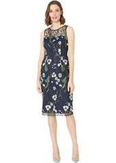 Adrianna Papell Pastel Paradise Embroidered Sheath Dress