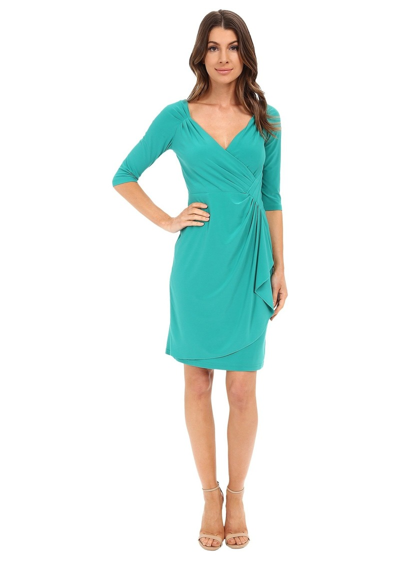 Adrianna Papell Peekaboo Side Draped Jersey Dress