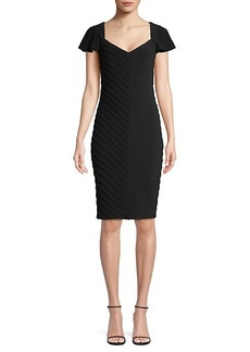 Adrianna Papell Pintucked Sheath Dress