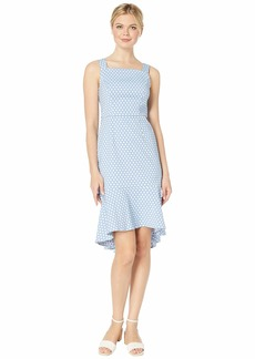 Adrianna Papell Polka Dot Trumpet Skirt Dress