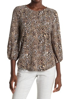 Adrianna Papell Printed 3/4 Sleeve Blouse