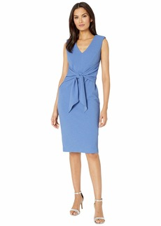 Adrianna Papell Rio Knit Draped Tie Sheath Dress