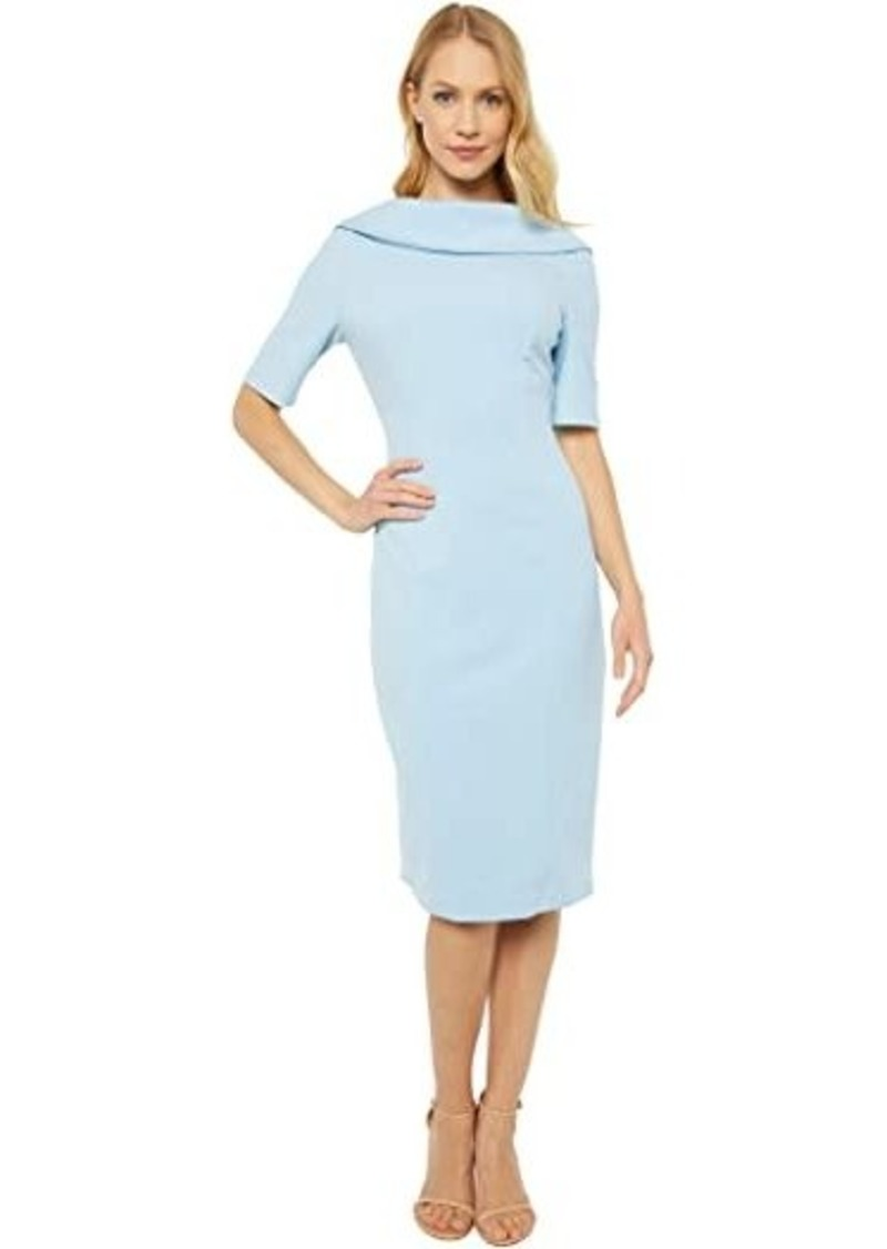 Adrianna Papell Roll Neck Sheath with V Back Dress