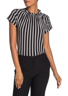 Adrianna Papell Ruffle Neck Top