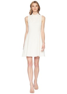 Adrianna Papell Ruffle Neckline Fit and Flare Dress