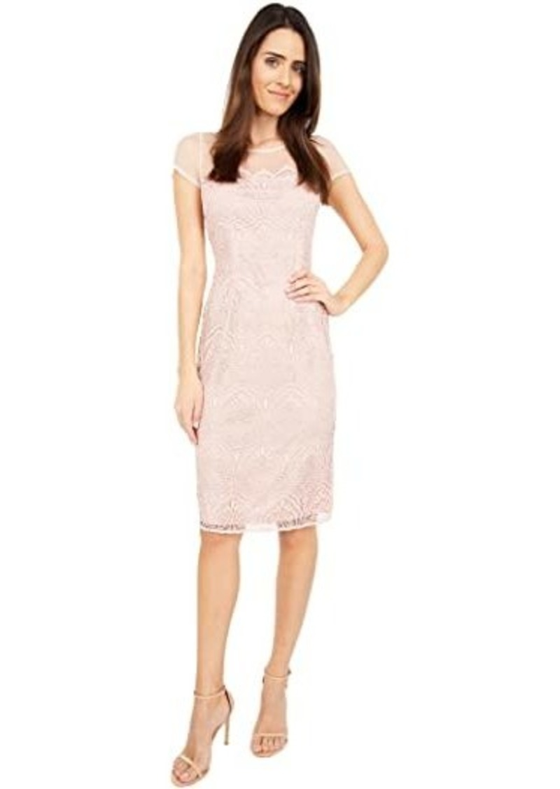 Adrianna Papell Scalloped Guipure Lace Sheath Dress