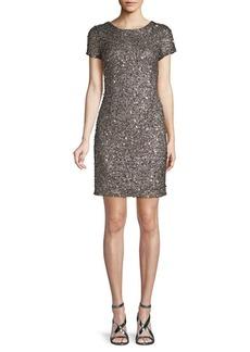 Adrianna Papell Sequin Beaded Mini Dress