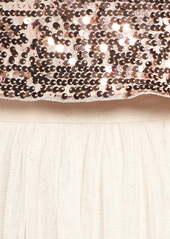 Adrianna Papell Sequin Crop Top & Tulle Skirt 2-Piece Set