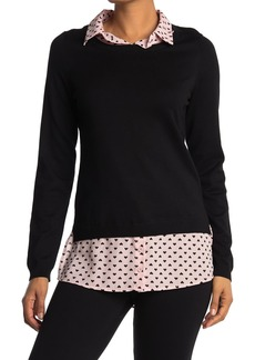 Adrianna Papell Shirttail Twofer Sweater