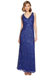 Adrianna Papell Sleeveless Beaded Mermaid Gown