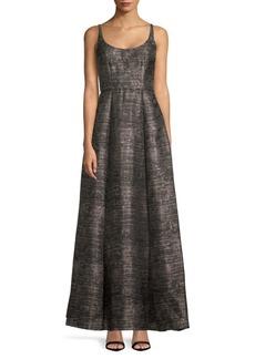 Adrianna Papell Sleeveless Floor-Length Dress