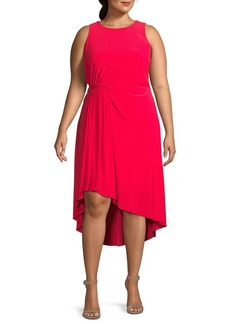 Adrianna Papell Plus Sleeveless Ruched Dress