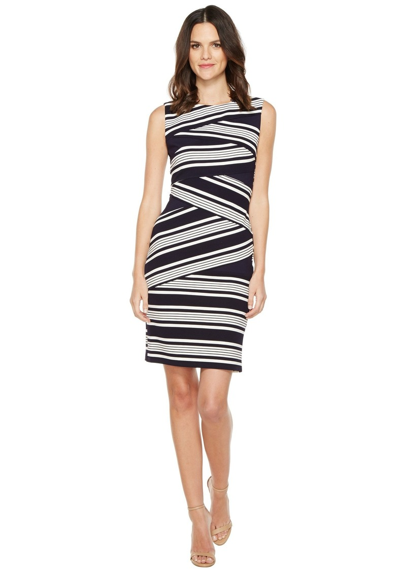 Adrianna Papell Sleeveless Stripe Bodycon Dress