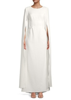 Adrianna Papell Split Sleeve Crepe Gown