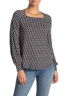 Adrianna Papell Square Neck Knit Top