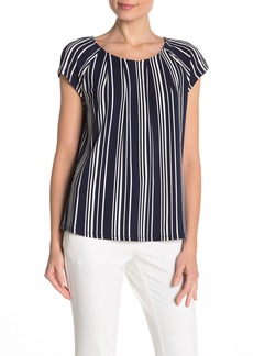 Adrianna Papell Striped Cap Sleeve Top