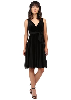 Adrianna Papell Surplus Midi Velvet Spliced Carwash Dress