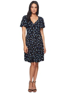 Adrianna Papell Techno Dot Ruffle Dress