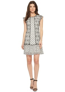 Adrianna Papell Twin Lace Flutter Sleeve Shift