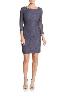 Adrianna Papell V-Back Lace Dress