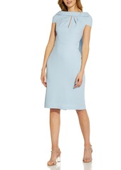 Women's Adrianna Papell Crepe Tie Back Sheath Dress
