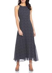 Adrianna Papell Darling Dot Sleeveless Chiffon Dress