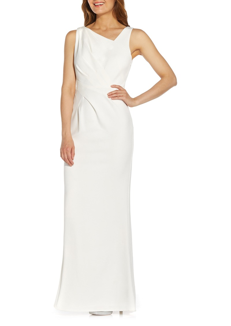 Adrianna Papell Embellished Crepe Evening Gown