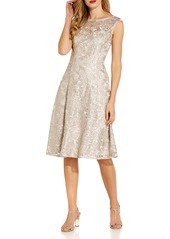 Adrianna Papell Embroidered Cocktail Dress