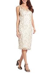 Women's Adrianna Papell Embroidered Sleeveless Sheath Dress