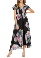Women's Adrianna Papell Floral Overlay Maxi Romper