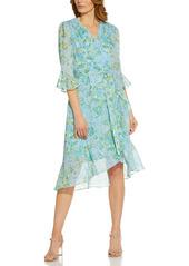 Women's Adrianna Papell Floral Ruffle Chiffon Dress