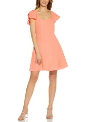 Adrianna Papell Sweetheart Neck Crepe Fit & Flare Dress