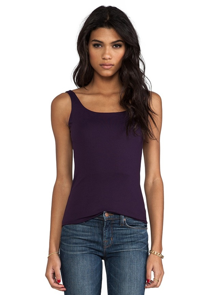 "Susana Monaco Low Back 11"" Tank in Purple"