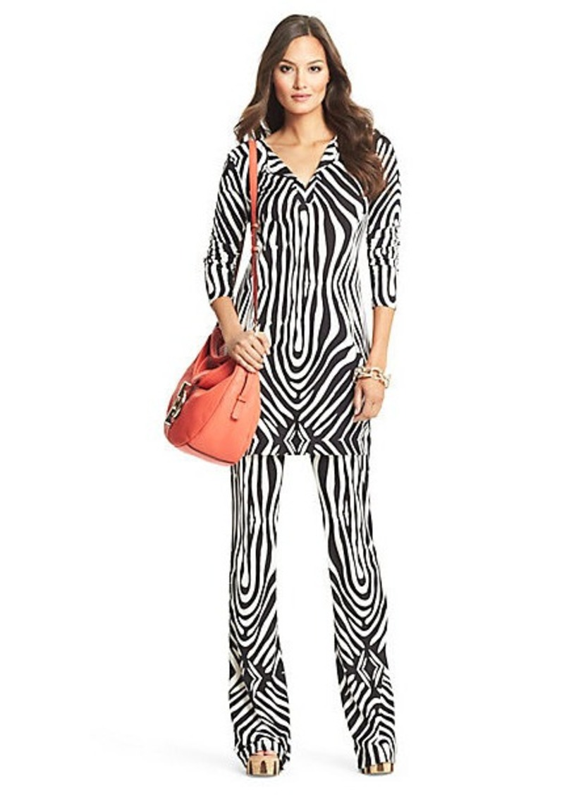 Diane Von Furstenberg Reina Silk Jersey Tunic Dress