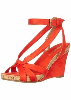 Aerosoles - Women's Fashion Plush Wedge Sandal - Open Toe Strap Platform Heel Shoe with Memory Foam Footbed (5M - )