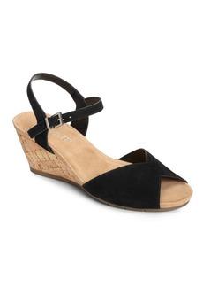 Aerosoles Cupcake Suede Wedge Heel Sandals